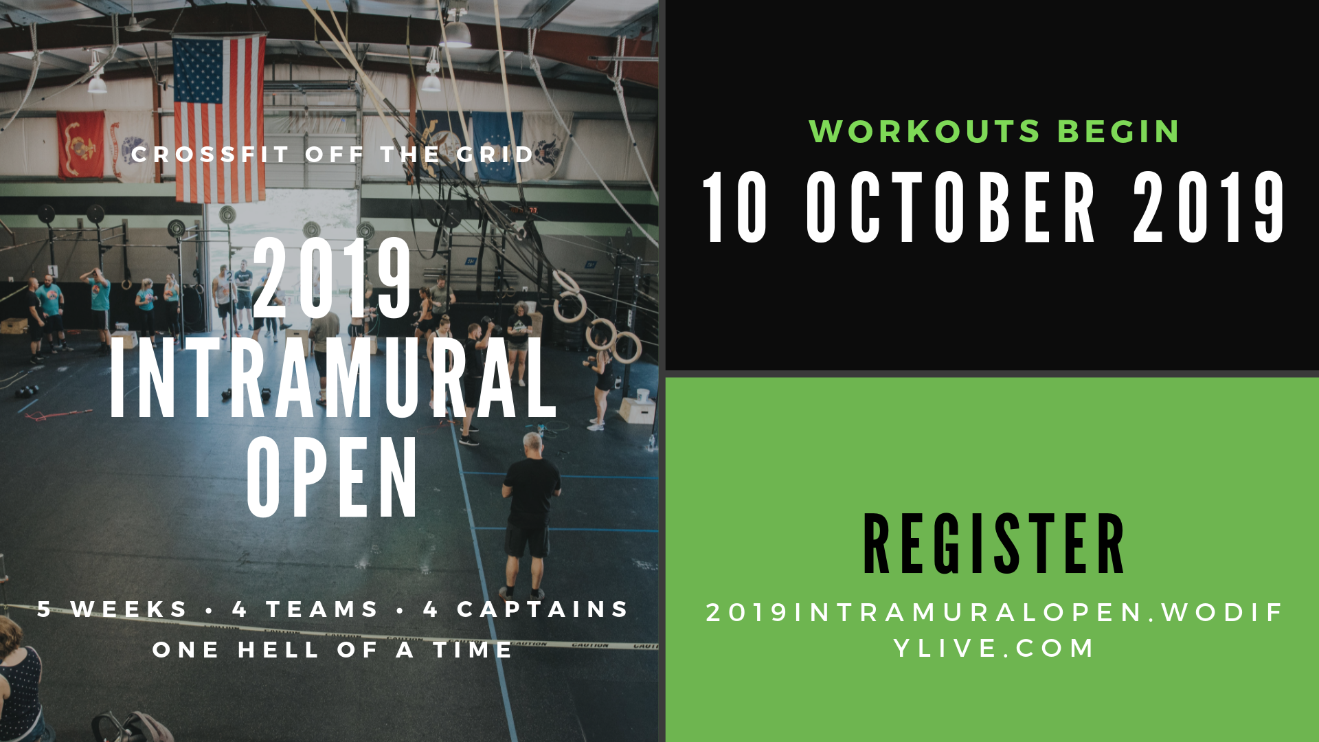 2019 CrossFit Off the Grid Intramural Open!