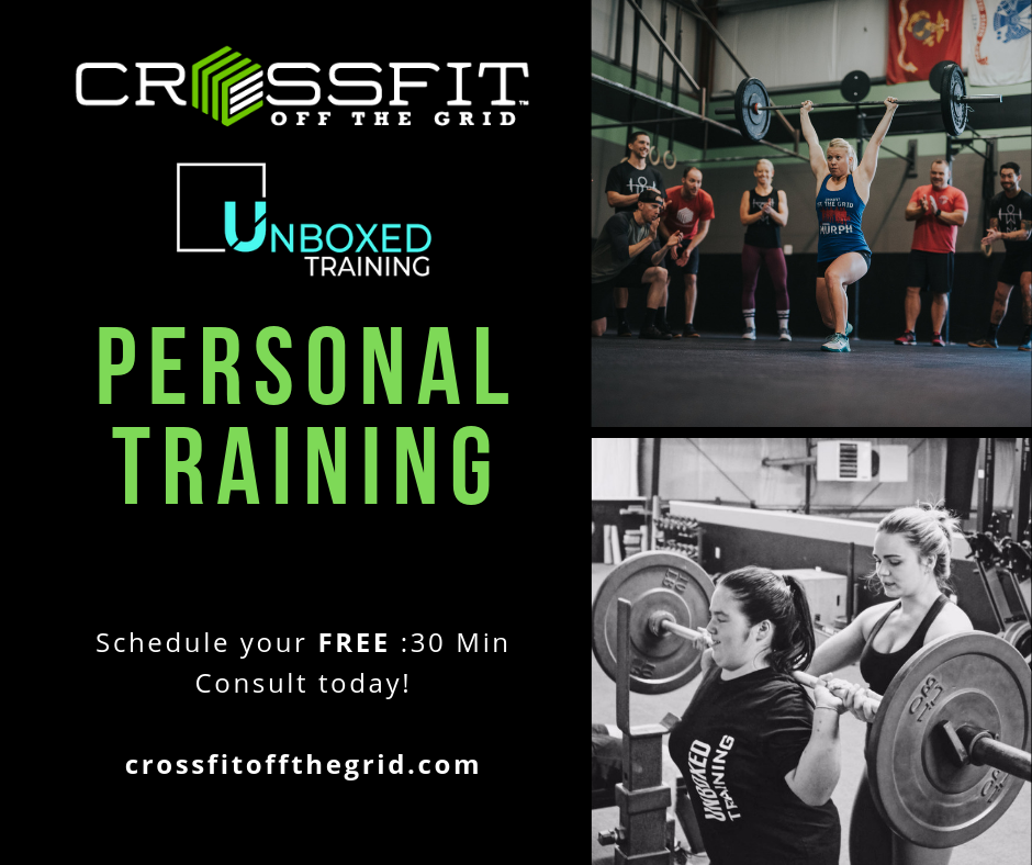 Personal Training at CrossFit Off the Grid